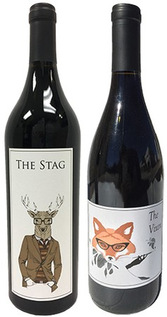 Vixen and stag