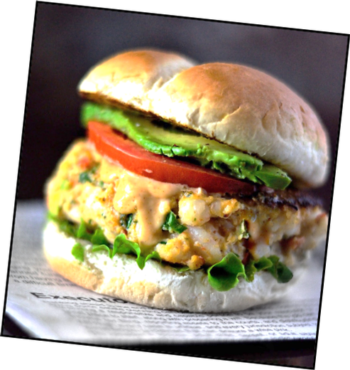 Shrimp Burgers with Chili-Lime Aioli Makes 4 Servings
